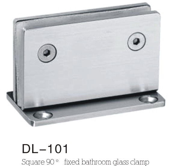 Bathroom Hinge DL101, fixed glass clamp 90angle
