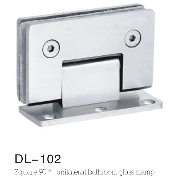 Bathroom Hinge DL102, Single side, 90 angle , zinc alloy