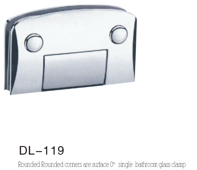 Bathroom Hinge DL119, rounded camber single 0 angle