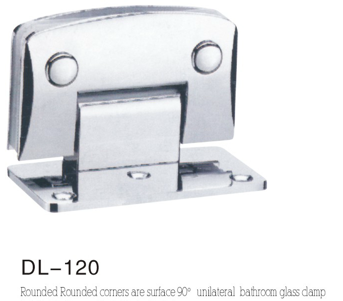 Bathroom Hinge DL120, rounded camber single 90 angle