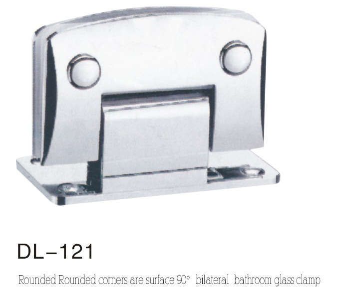Bathroom Hinge DL121, rounded camber double 90 angle