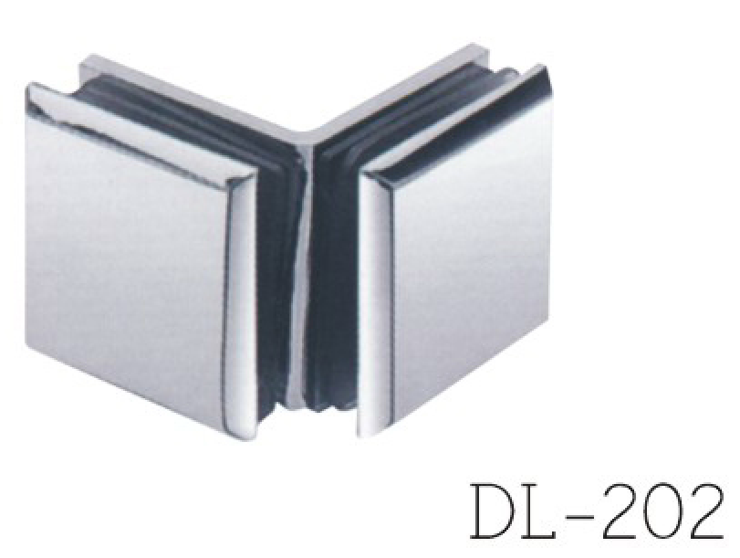 Glass Clamps DL202, 90 angle, double, zinc alloy