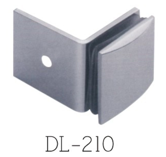 Glass Clamps DL210, 90 angle, single