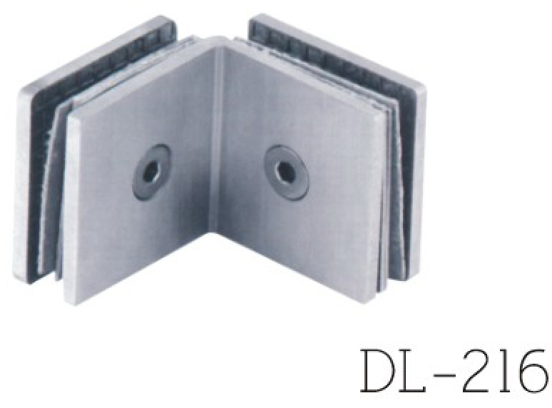 Glass Clamps DL216, 90 angle, double