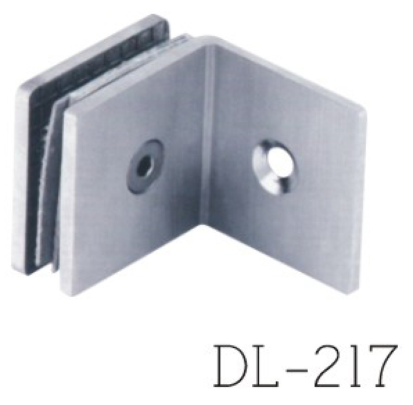 Glass Clamps DL217, 90 angle, single