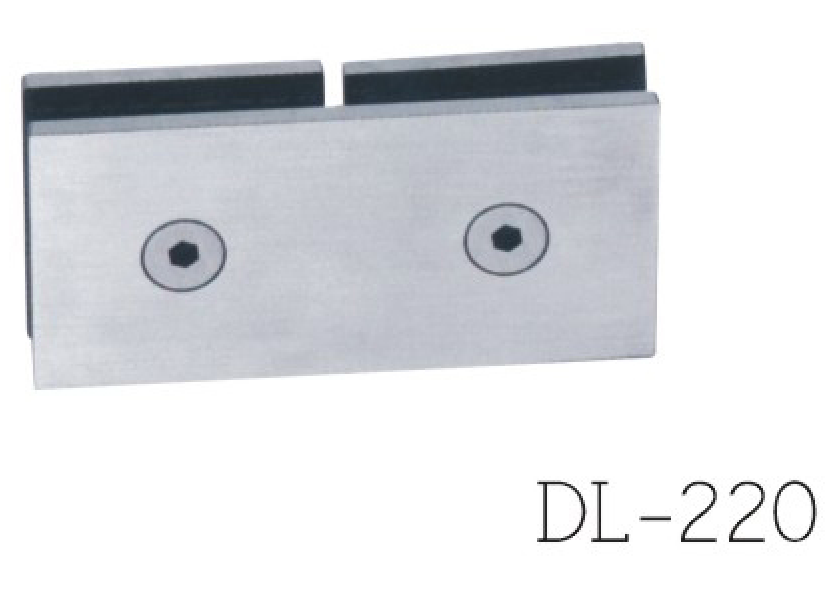 Glass Clamps DL220, 180 angle, double