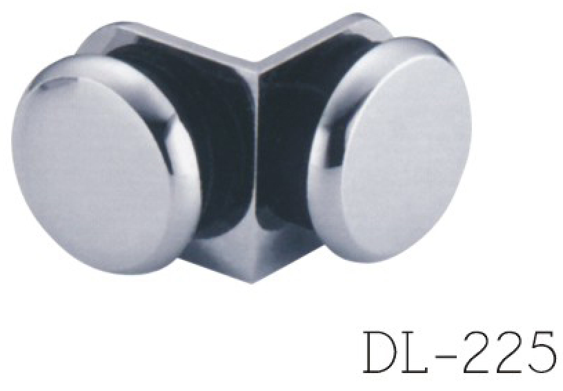 Glass Clamps DL223, 90 angle, double