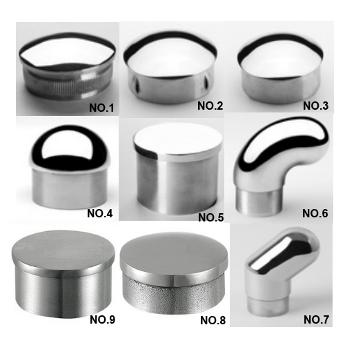 Handrail stainless steel end cap/glass fence post cap