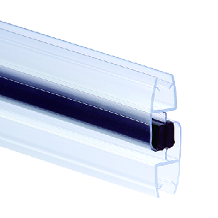 Megnetic sealing strips MX180-2, with megnet, color blue and transparent