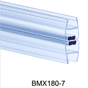 Megnetic sealing strips BMX180-7, with megnet, color blue and transparent